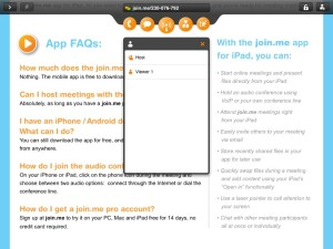 Join.Me on an iPad