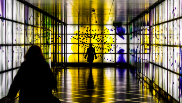 how to choose the right colors for your workspace colorful hallway glass